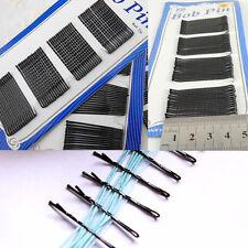 Hot 60* Clips noirs masqués pour beauté cheveux Pins Barrette Invisible Mode