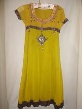 Gorgeous Beaded Dress Smaller size shorter sleeves Possibly silk handmade Indian