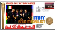 ITALY 2012 OLYMPIC MENS FENCING TEAM GOLD MEDAL COVER