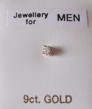 Diamond Yellow Gold Earrings & Studs for Men