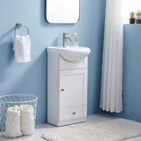 "18"" Single Bathroom Vanity 2- Drawer Stand Cabinet Set W/ Ceramic Vessel Sink"