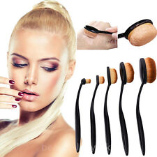 5Pcs/Set Black Toothbrush Makeup Brushes Set Oval Cream Puff Foundation Brush
