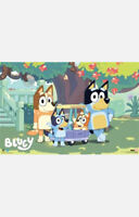 "BLUEY FAMILY UNDER TREE POSTER - BANDIT CHILLI BINGO - 91 x 61 cm 36"" x 24"""