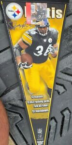 Jerome Bettis Stat Ltd Ed #'d Pittsburgh Steelers pennant NEW 2006