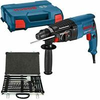 Bosch GBH 2-26 SDS+ Rotary Hammer Drill 110V in Case With D-21200 17Pc Acc. Set