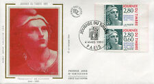 FRANCE FDC - 2934A 1 JOURNEE DU TIMBRE - PARIS 4 Mars 1995 - LUXE sur soie