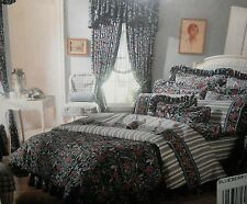 Vintage Laura Ashley Blueberry Twin Comforter & Bedskirt NEW w/bonus pillowcase