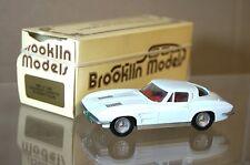 BROOKLIN MODELLI BRK 21 1963 Chevrolet Corvette Stingray Coupé bianco in scatola