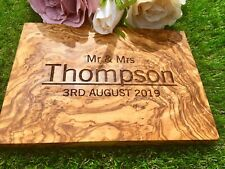 PERSONALISED OLIVE WOOD CHOPPING/CHEESE BOARD NEW HOME HOUSE WARMING GIFT