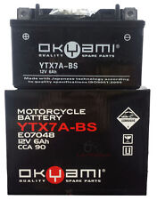 BATTERIA OKYAMI YTX7A-BS 12V 6AH SYM SYMPHONY SR 150 2010 2011 2012