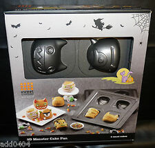 3D monster cake pan - sweet creations - 4 monster designs - HALLOWEEN - NWT