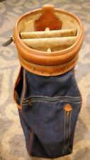 Vintage Hot-Z Golf Bag Brown Faux Leather & Canvas USA Good Condition