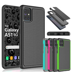 For Samsung Galaxy A51 5G Case Shockproof Hybrid Armor Cover + Screen Protector