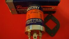Vintage Mallory Capacitor FP452.5  4 SECTION CAN 10@475, 20@350, 50@25, 100@25