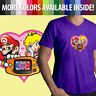 Nintendo Game Boy Mario Princess Peach Love Heart ‎Men Unisex Tee V-Neck T-Shirt