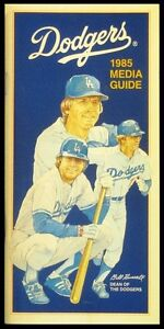 1985 Los Angeles Dodgers Media Guide - 152 Pages - NEAR MINT Condition