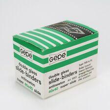 Gepe 24x36mm Slide Mounts w/ Anti Newton Glass 40x40 - Box of 20 - New & Unused
