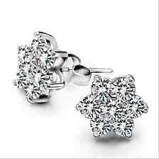 wholesale 925 Silver Crystal Stars Earrings Ear Stud women fashion jewelry gift
