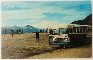 Vintage Mount McKinley National Park Alaska AK Tundra Wildlife Tour Bus