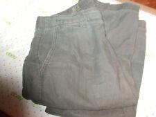 $69 GAP THE SURPLUS GREEN STRESSED KHAKI'S 34/31 PINSTRIPES MILD WEAR pants