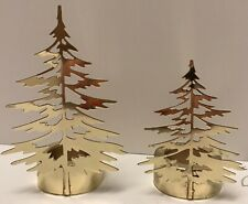 Yankee Candle Gold Tree Tealight Tea Light Holder Set NIB Christmas