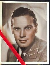 NORMAN FOSTER 8X10 GLOSSY SIGNED COLORIZED PUBLICITY PHOTO PRINT VTG 1930-40