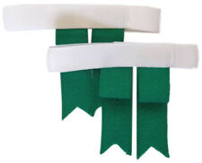 Cub Scout /  Boy Scout Elastic Garters & Bottle Green Garter Tabs  - Adult Sizes