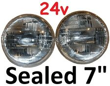 "24V 7"" Sealed Beam Headlights 75/50w Rangerover Vogue V8 3.5 3.9 4.2 Range Rover"