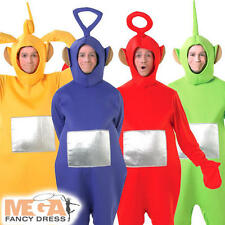4 X Teletubbies Adults Fancy Dress BBC TV Show Mens Ladies Teletubby Costumes