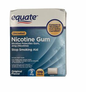 Equate Stop Smoking Aid Nicotine Gum - 220 Pieces, 2 mg sealed box never opened