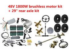 """29"""" Go Kart Rear Axle, 6"""" Wheels, 48V 1800w Brushless Electric motor Go Cart kit"""