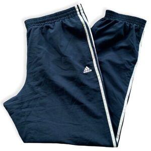 Adidas Herren Jogginghose Gr. XL Sporthose Track Pants Hose Marineblau Weiß AU2