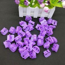 40pcs 3D Letter & Figure Cookie Cutters Cake Sugarcraft Fondant Decorative Molds