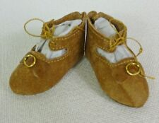 """65mm LEATHER SHOES  for ANTIQUE DOLL , """"Jumeau""""  Shoes , Dollmaking,"""