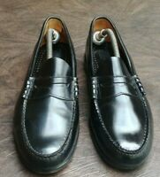 BASS SLIP ON PENNY LOAFERS SZ 11.5 D USED CASUAL BUSINESS CLASSIC BLACK LEATHER