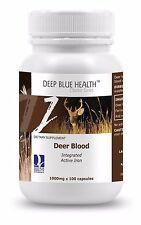 Deer Blood (100 caps) - 1000mg from New Zealand Deer - Energy+Health+Stamina