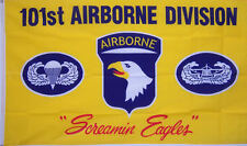 New listing 3x5 101st Airborne Division yellow Army Military New 3x5ft Flag