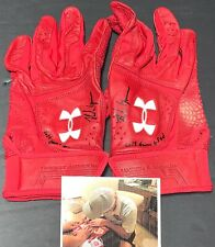 Nolan Gorman St Louis Cardinals Signed 2019 Game Used Batting Gloves 11