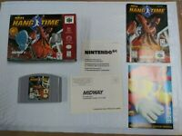 TESTED NBA HANGTIME 1997 N64 NINTENDO 64 COMPLETE IN BOX EX++ HARDLY USED CONDIT