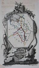 Scarce original antique map IRELAND, SLIGO, LEITRIM, ROSCOMMON, Perrot, 1823