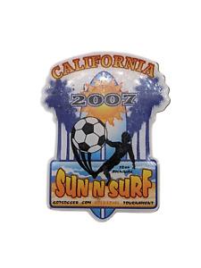 2007 California Lapel/Hat PinSouvenir, Sunglasses, gold level Soccer tournament