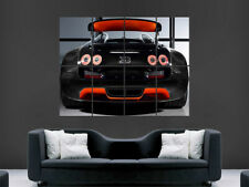 BUGATTI VEYRON CAR POSTER SUPER SPORT ART WALL LARGE IMAGE GIANT