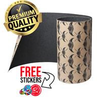 Jessup Griptape Skateboard Grip Tape Sheet, Black + FREE STICKERS