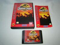 Sega Genesis Jurassic Park game cartridge w/ case & manual, tested working