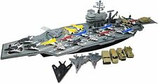 33 Inch Aircraft Carrier with Soldiers Jets Military Vehicles + 18 Fighter Jets