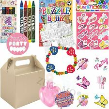 Childrens Girls Silver Personalised Wedding Activity Pack Favor Gift Party Bags