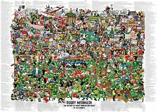 Rugby mélange-the history of rugby union en une seule image poster