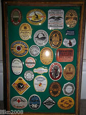 Guinness Old Bottle Labels Embossed Metal Advertising Sign 30x20cm Irish Bar
