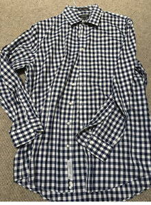 NORDSTROM Men's Shirt Size 35/16.5 Wrinkle Free Cotton New Without Tags