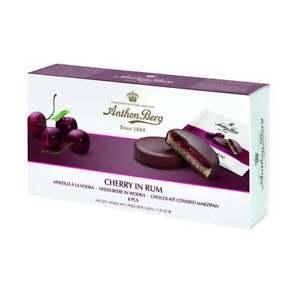 Anthon Berg Cherry in Rum Marzipan Dark Chocolate Discs Gift Box 8 Pieces 220g℮